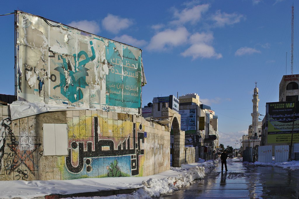 Snow in Ramallah.