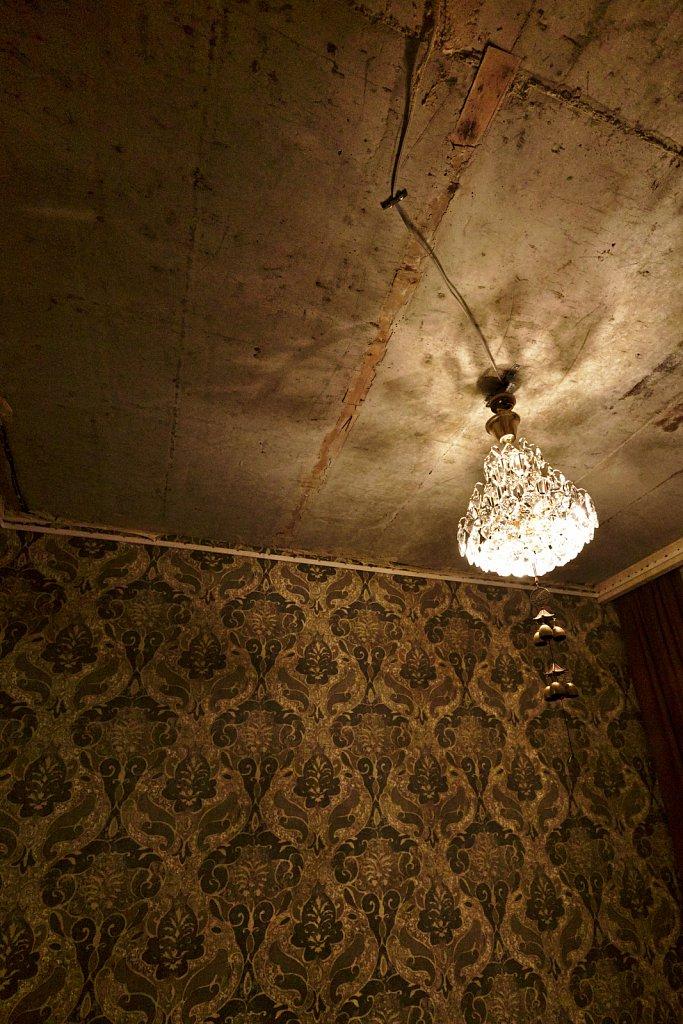 Lamp + Wallpaper + Ceiling